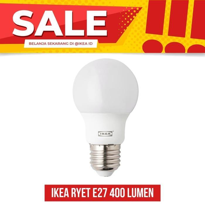 IKEA RYET Bohlam LED E27 400 lumen, bulat putih opal