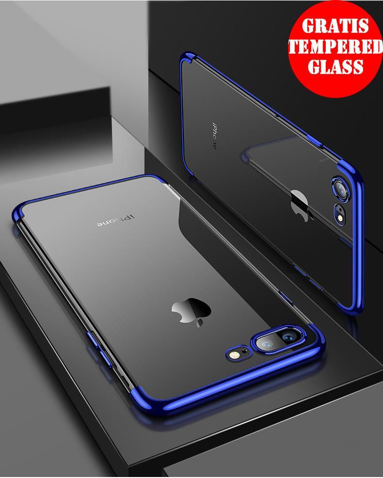 WEIKA iPhone 7 Plus Shiny Transparen Bening Ultra Thin TPU Soft Case
