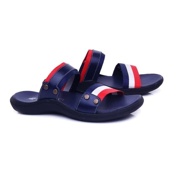 Sandal laki-laki/sandal pria Sandal Pria Slop Casual Blue Sandal Laki-Laki Murah Berkualitas keluaran terbaru model terbaru warna blue