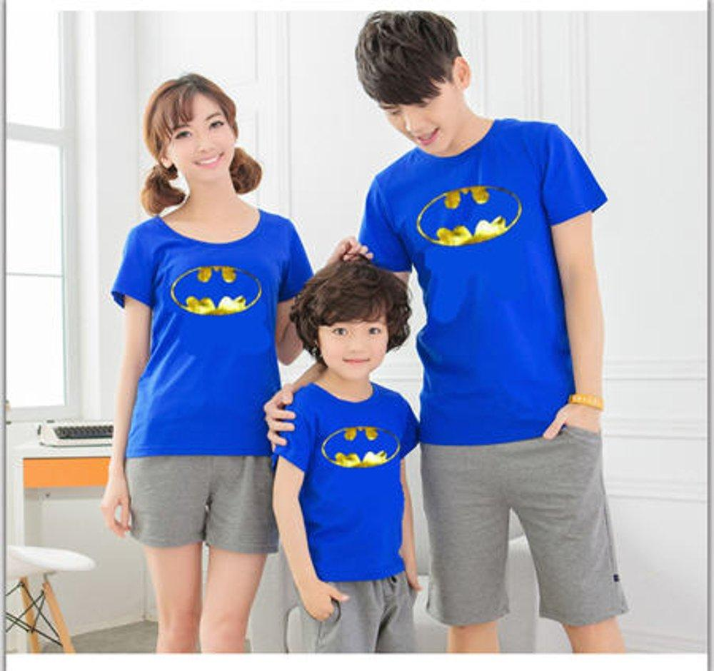 COUPLE FAMILY BATMAN GOLD FOIL (BIRU) di lapak COUPLE GROSIR couplegrosir