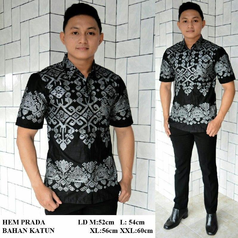 Kemeja Batik Modern Kombinasi Exclusive