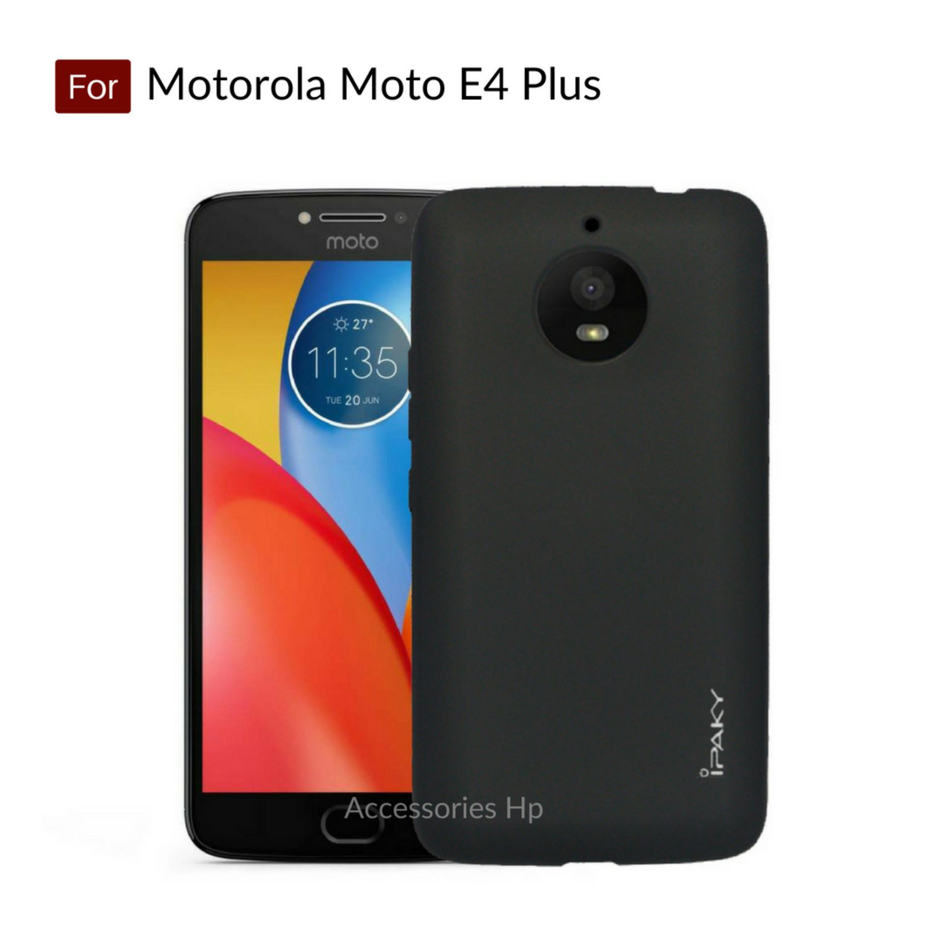 Accessories Hp iPaky Super Slim Matte Anti Fingerprint Hybrid Case for Motorola Moto E4 Plus ( E4+ ) - Black