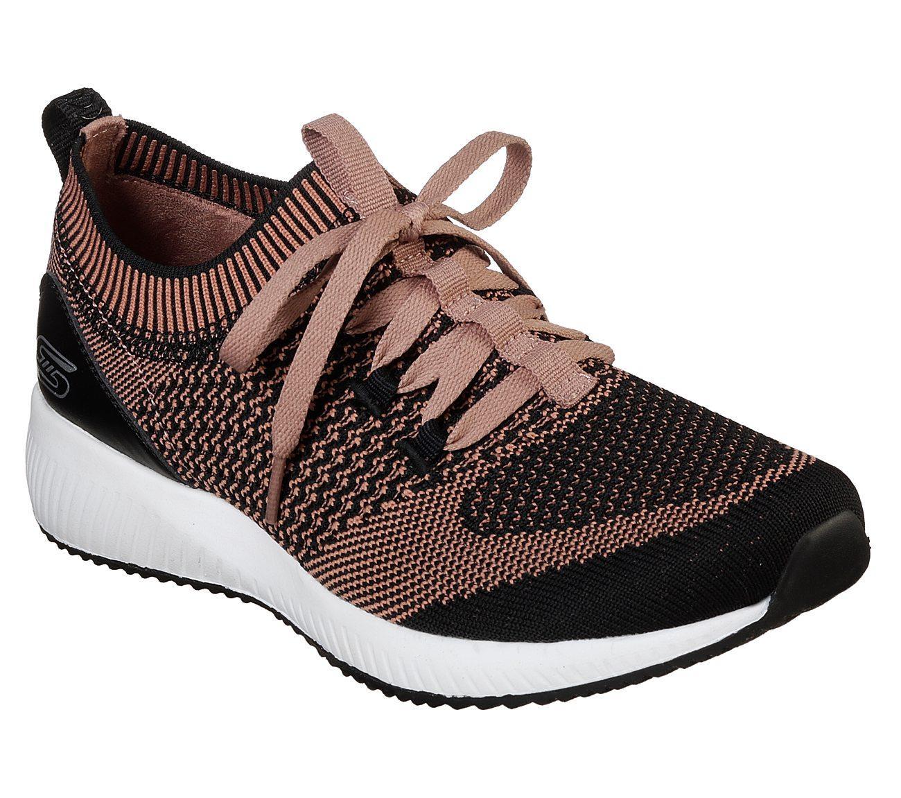 Skechers - Bobs Sport Squad - Alpha Gal Sepatu Sneakers Wanita - Hitam 3f22c4672f