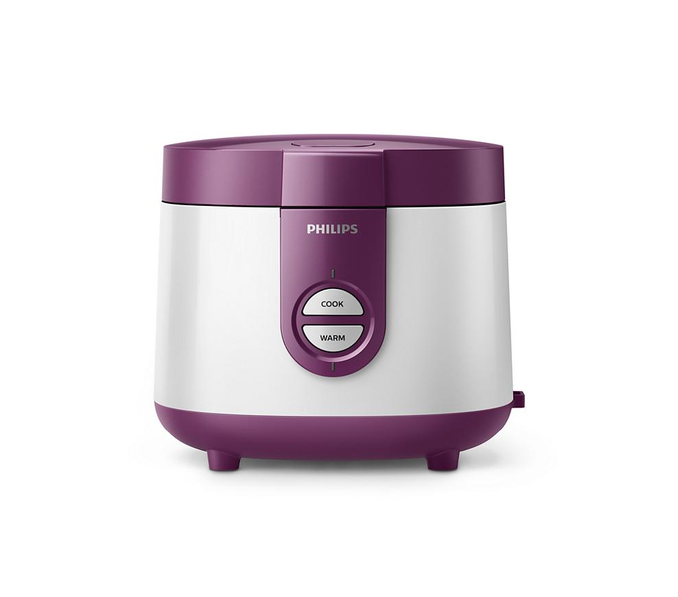 philips HD 3116 rice cooker 1 liter - ungu