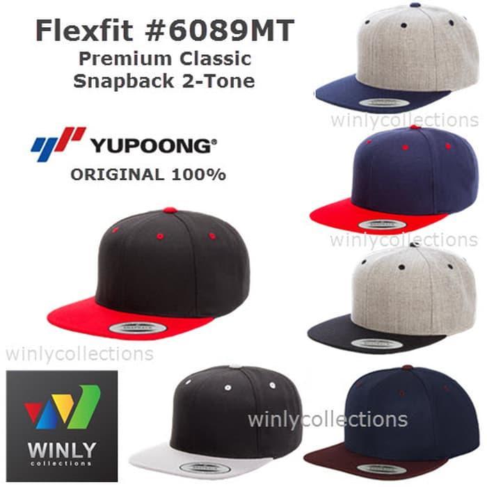 Best Top Seller!! Topi Flexfit Premium Classic Snapback 2-Tone 6089Mt Ori - ready stock