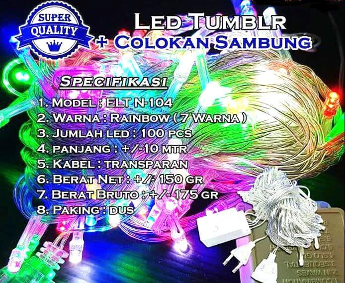 Lampu Hias / Lampu Natal LED TWINKLE / TUMBLR Rainbow 7-8 - OST