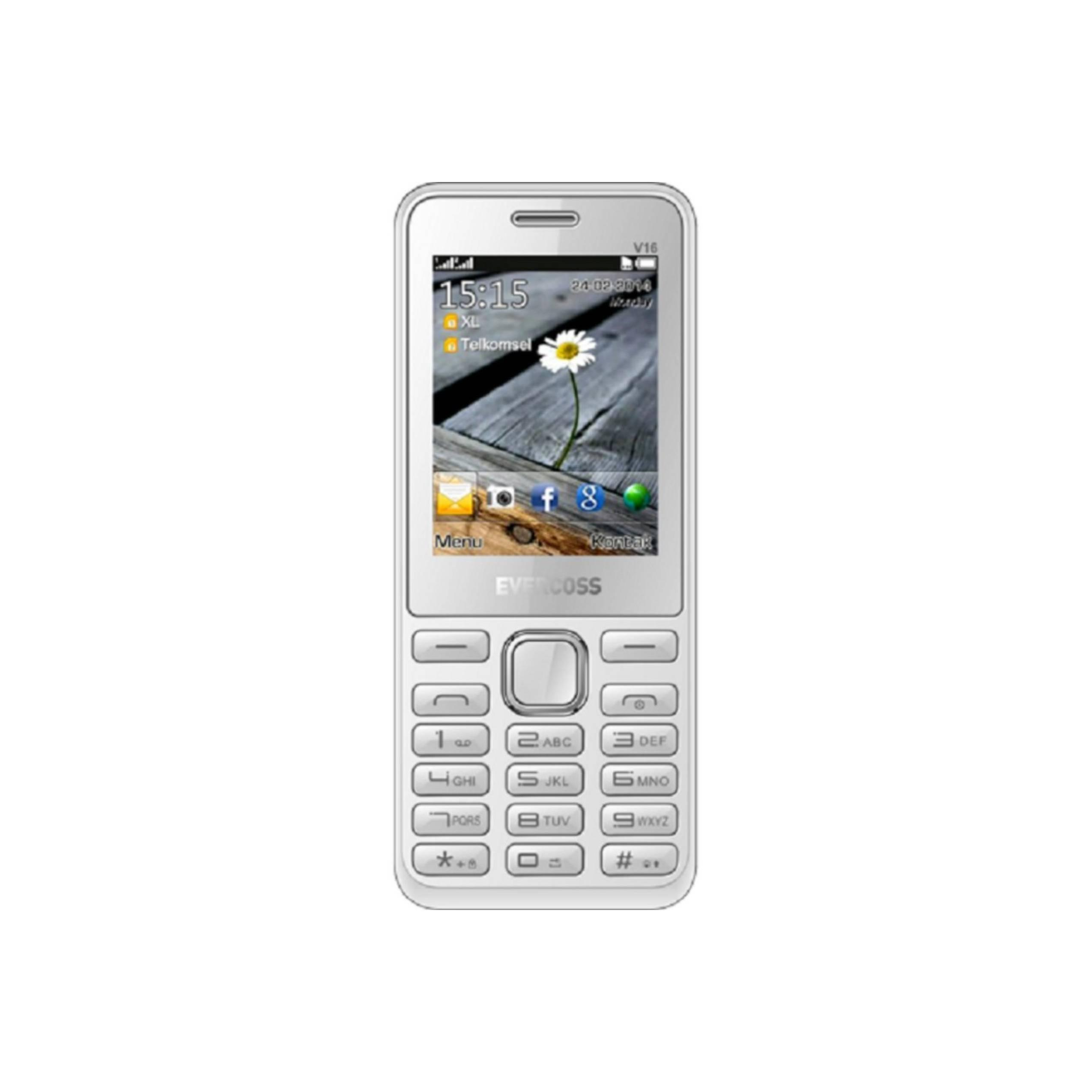 Evercoss V16 Fun Series - Dual SIM - TV Analog - Putih