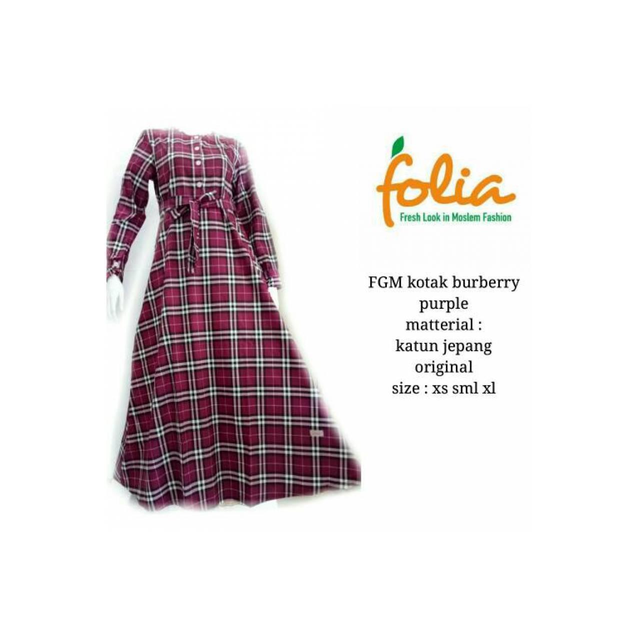 Gamis Folia FGM Kotak Burberry