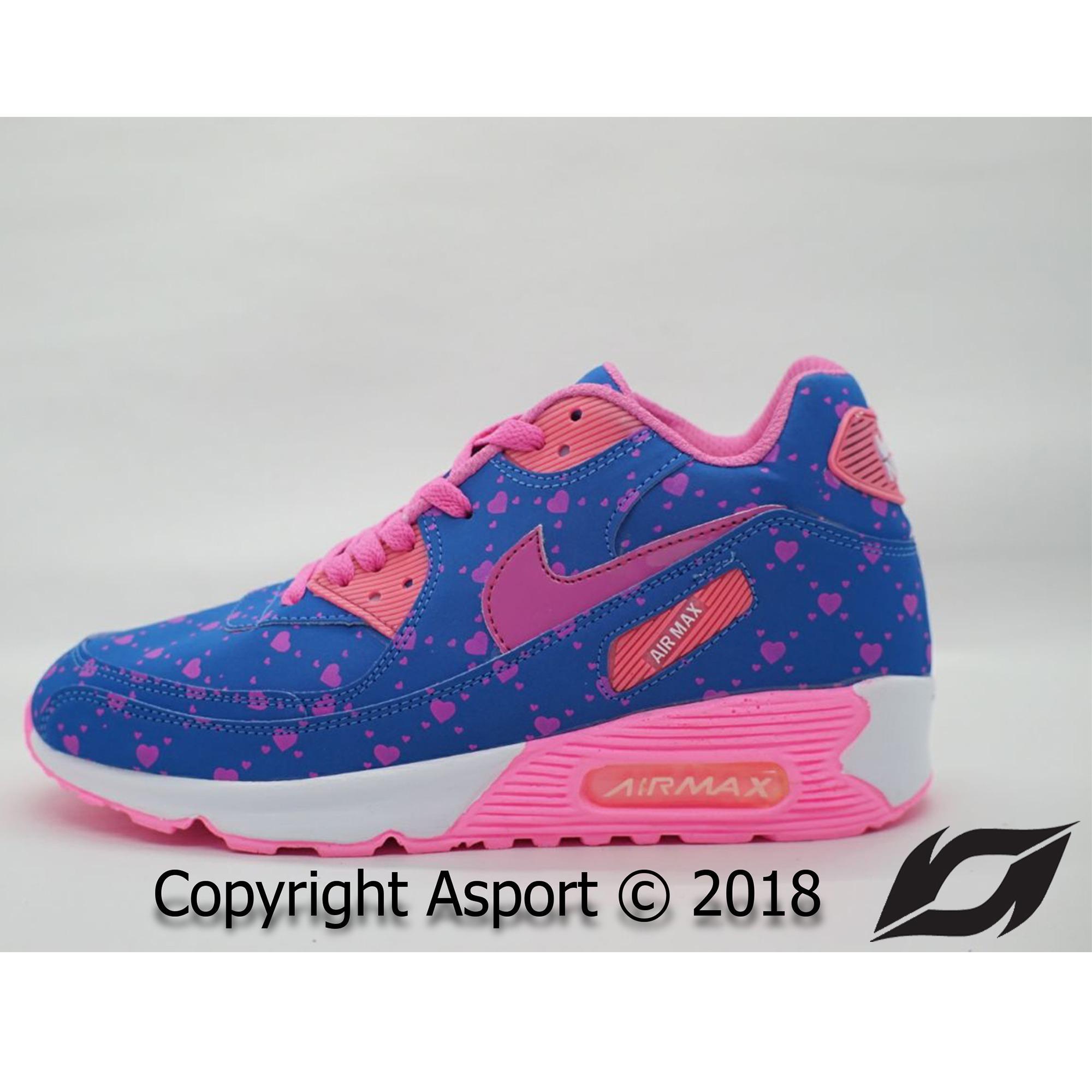 Sepatu Murah Nike Airmax 90 Kualitas Premium Warna Biru Pink Love