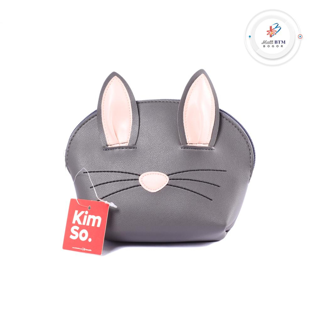 Mall BTM Bogor - Kimso Pouch Aksen Telinga Kucing Lucu Harga Murah - Hitam