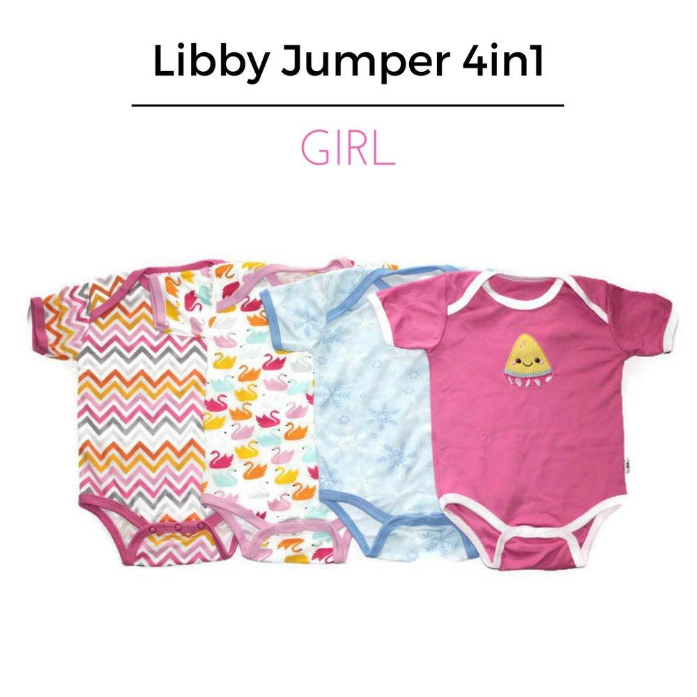 Buy Sell Cheapest Gema Jumper Bayi Best Quality Product Deals Baju Oblong Iol Pendek 4in1 Libby Segitiga