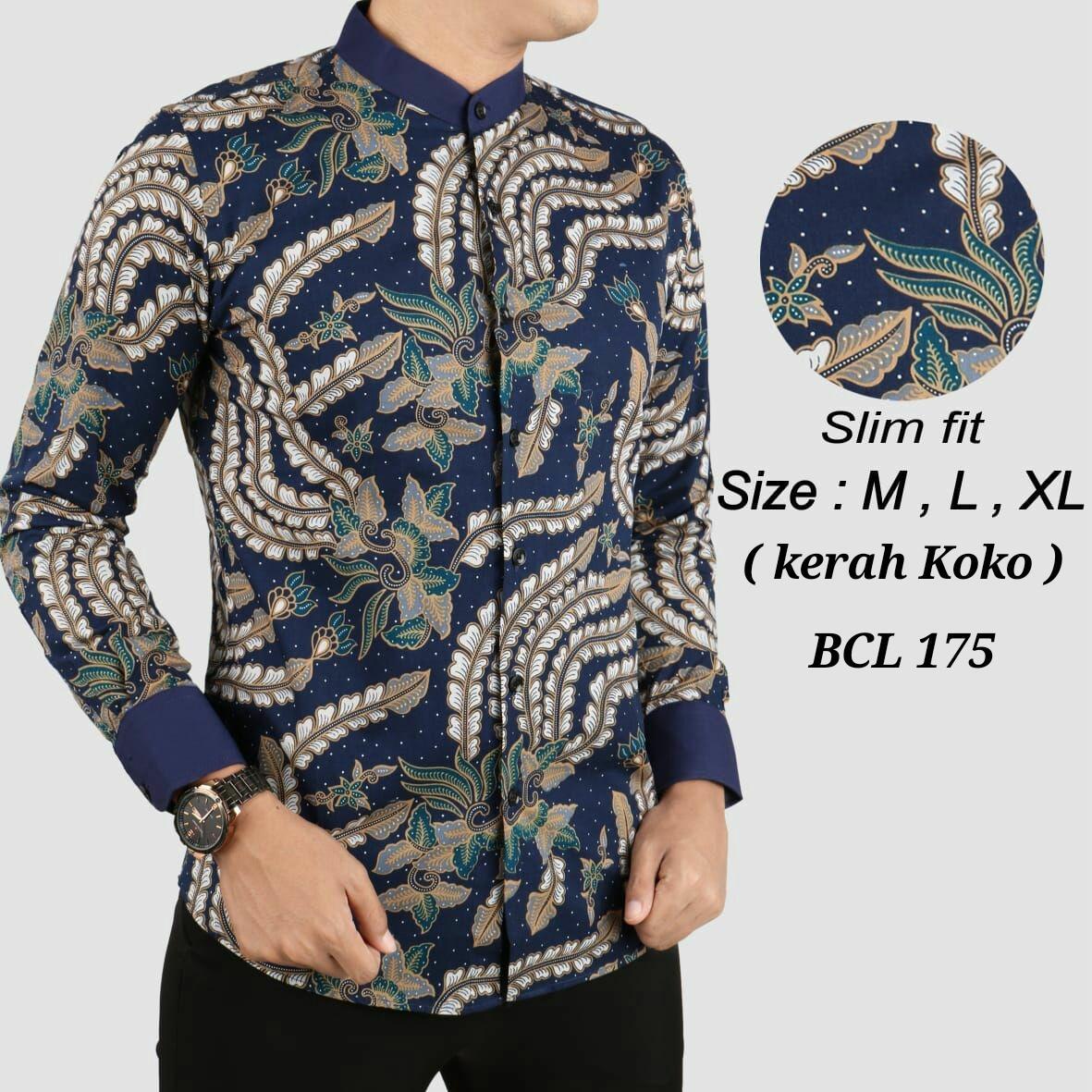 Baju Kemeja Batik slimfit / Model Batik Terbaru / Batik Pria / Hem Batik