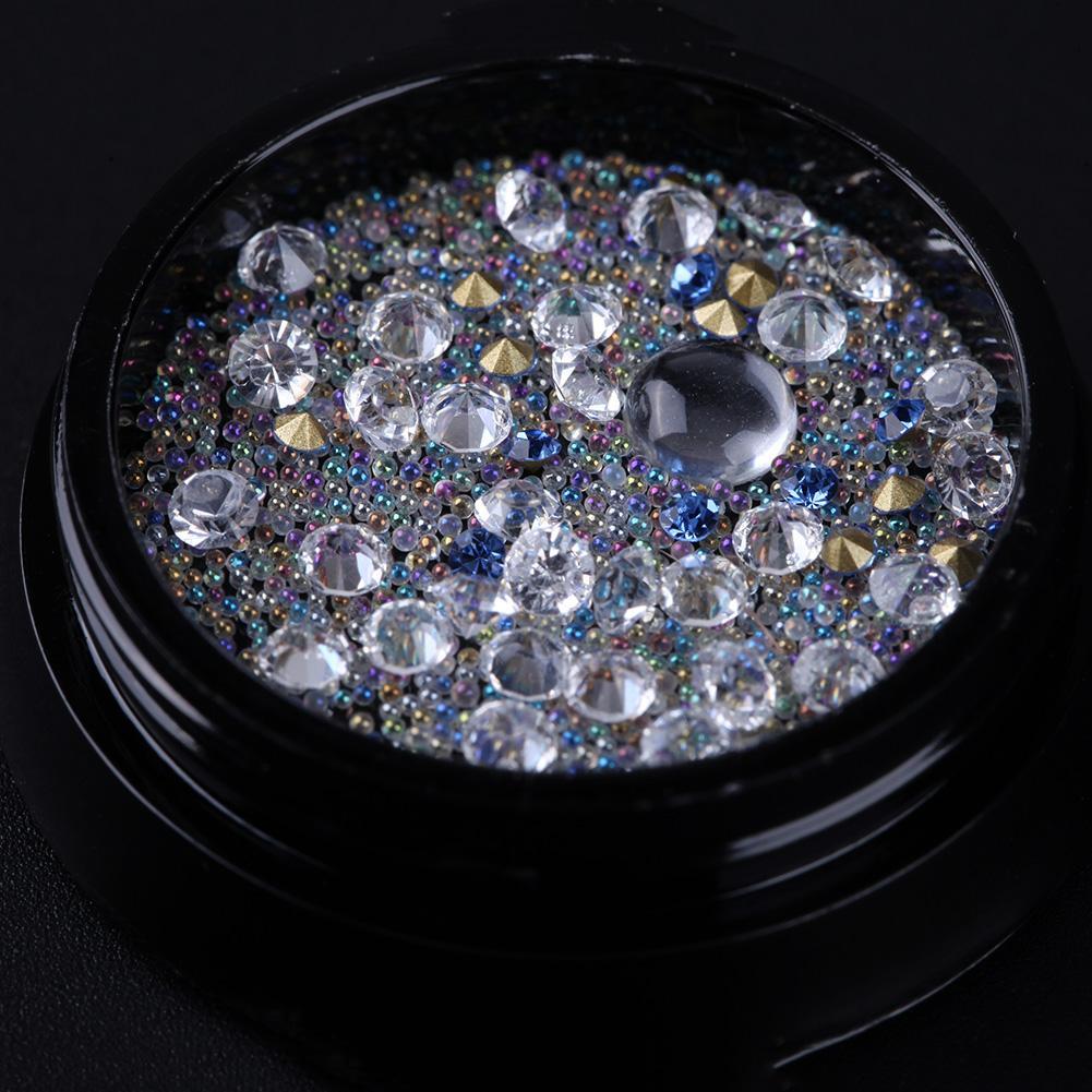 Berlian Imitasi Nail Dekorasi Manik-manik Gel Polish Ujung Seni Kuku Aksesoris-intl(
