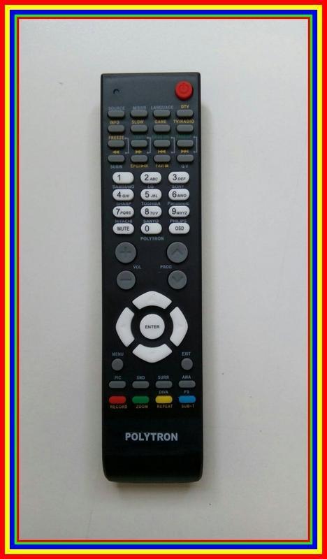 Remot Remote Tv Polytron Lcd Led Tabung Flat Slim