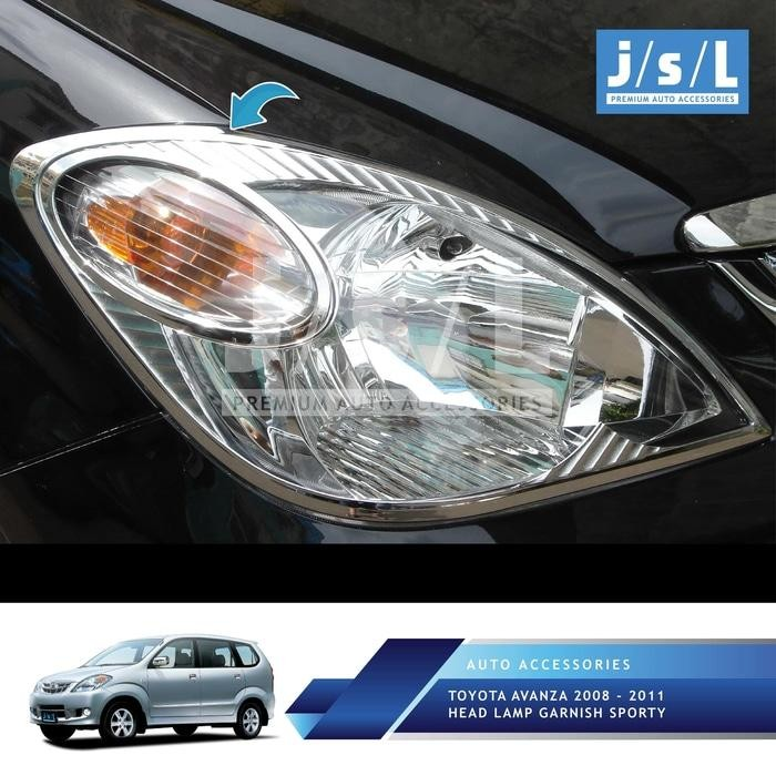 Toyota Avanza 2008 -2011 Head Lamp Garnish Sporty Chrome By Prince4l Shop.
