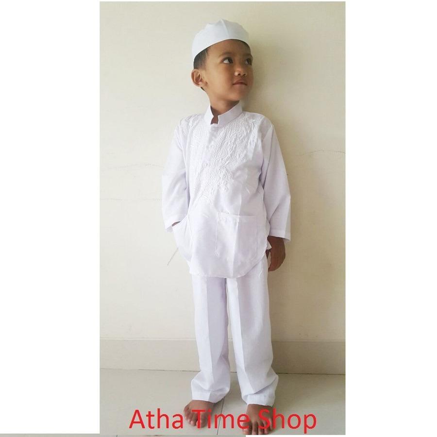 Baju Koko Untuk Anak Anak - Setelan Baju dan Celana Koko Plus Bonus Peci