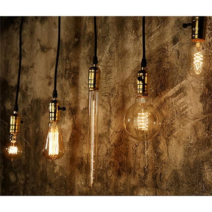 Bohlam lampu LED Edison / Filament ST64 Kuning Lampu Cafe
