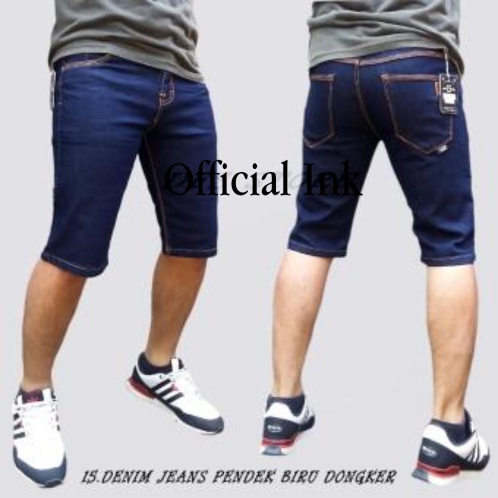 Celana Jeans Pria Branded Terbaik Panjang Street Pendek Denim Skinny Slimfit Pensil Biru Dongker