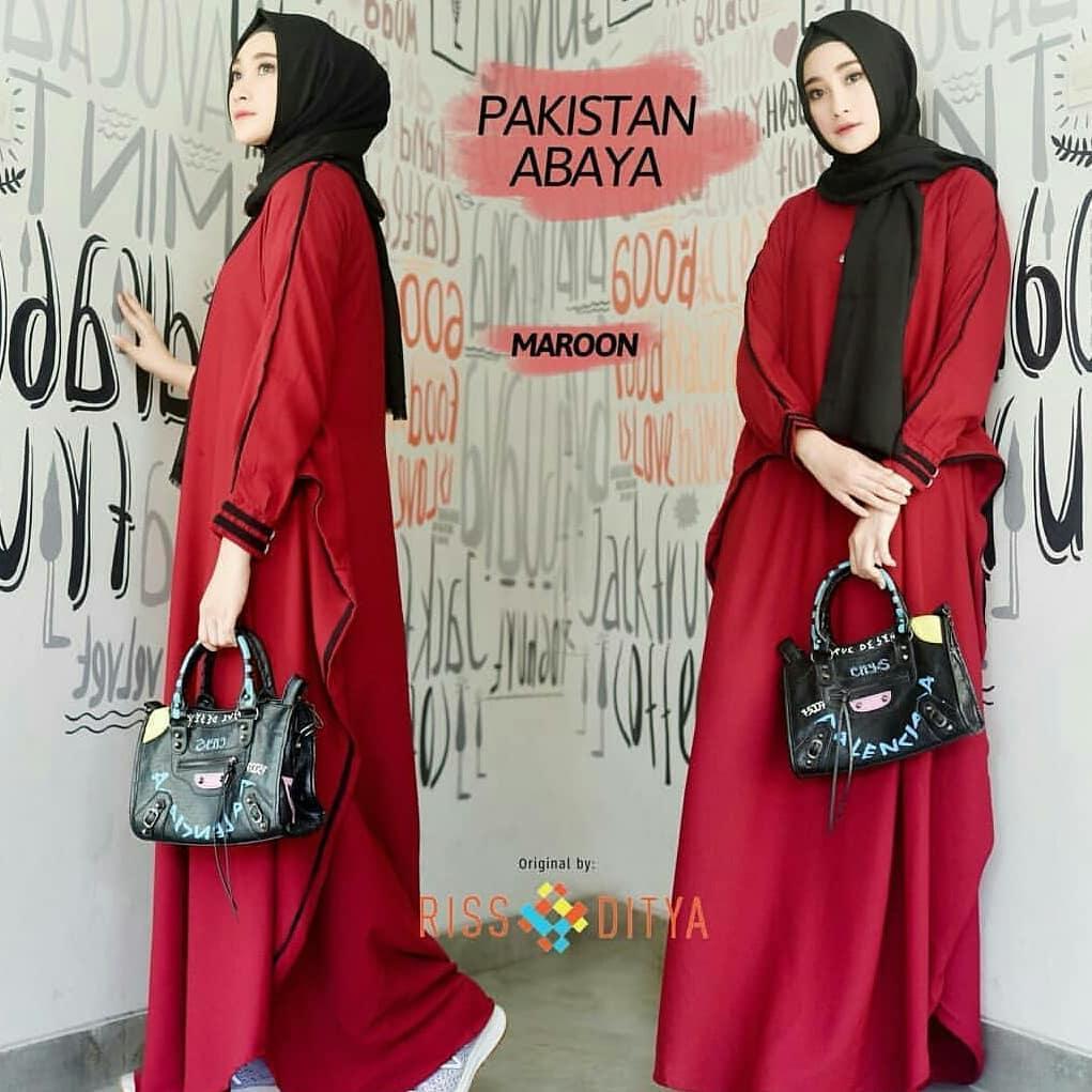 baju gamis syari pakistan abaya dress murah