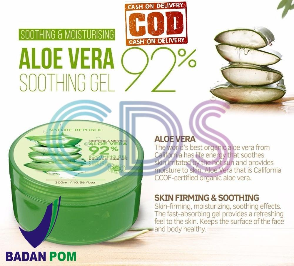 Buy Sell Cheapest Nature Republic Moisture Best Quality Product Aloe Vera 92 Soothing Gel 300ml Original Bpom