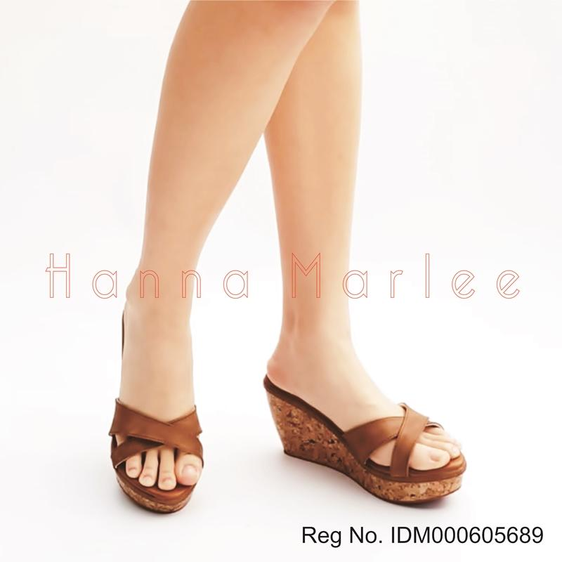Marlee Cross Strap Wedges Sandal Wanita RT-35