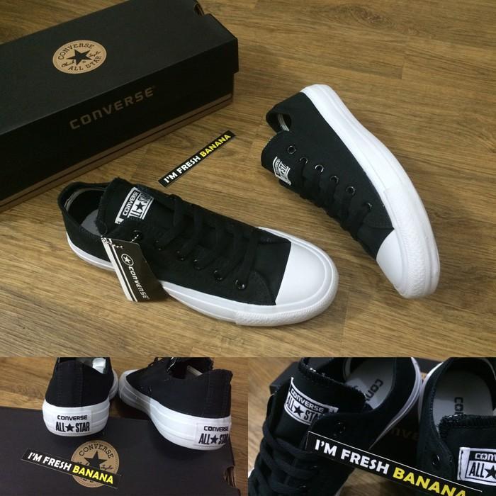 Promo Termurah Sepatu Converse All Star Chuck Taylor 2 / CT II Dark Grey Abu Gratis Ongkir