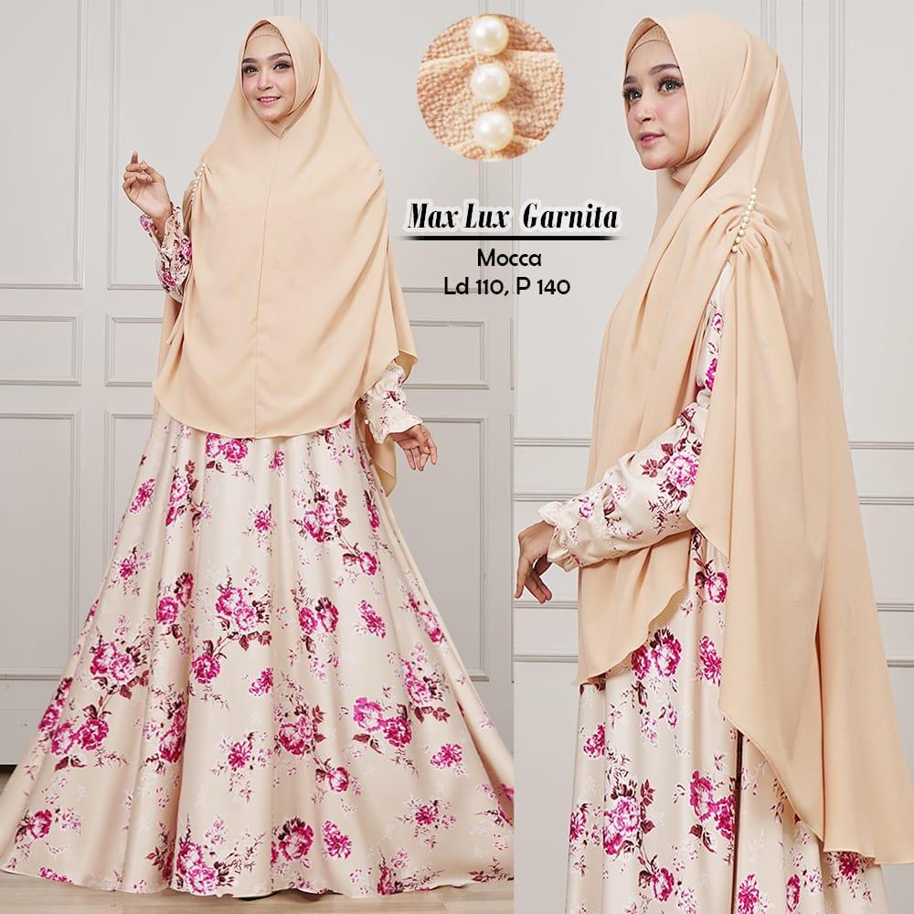 Humaira99 Baju Gamis Syari Muslim Dress Hijab Muslimah Longdress Lebaran Atasan Wanita Busui Maxmara Garnita