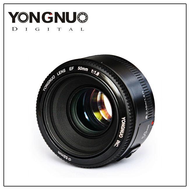 YONGNUO Mounting Lensa YN50mm F1.8 Auto Fokus Untuk Canon Canon EF EOS