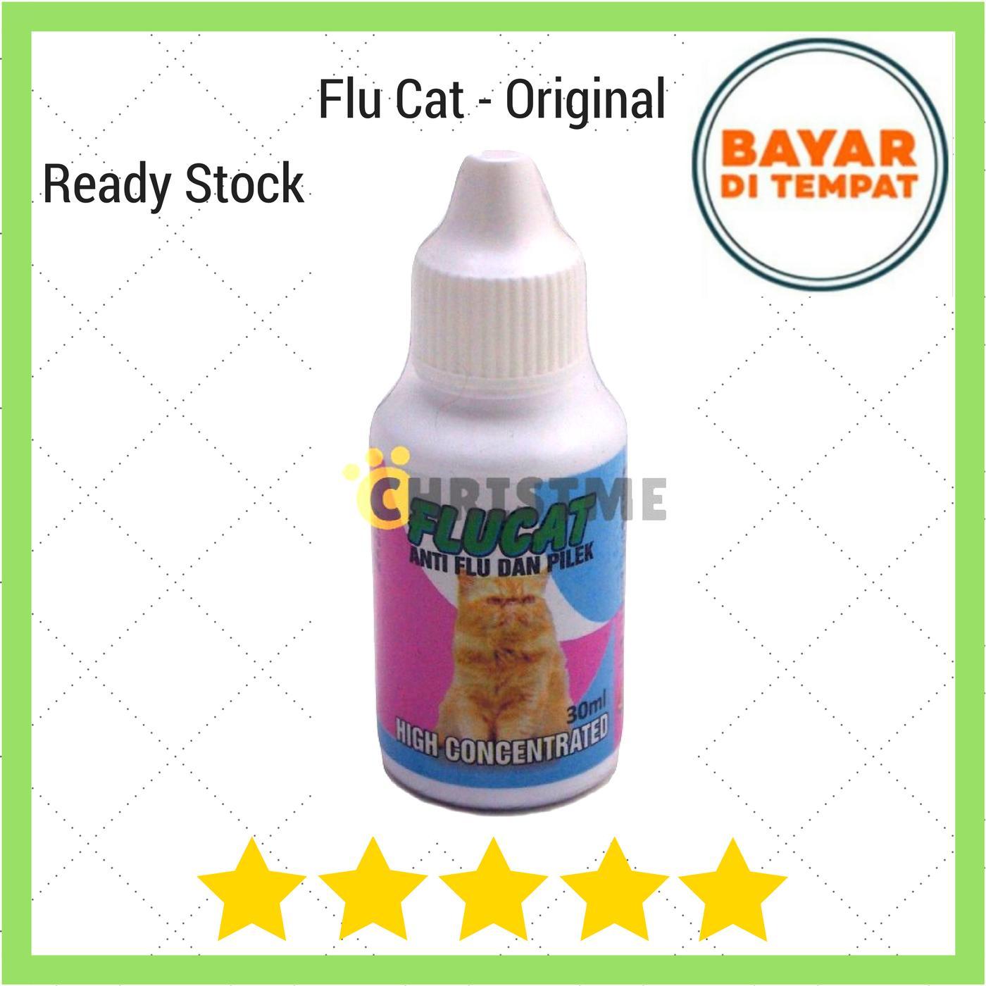 Flu Cat 30ml Original - Obat Flu Dan Pilek Pada Kucing Ingusan Bersin By Christ Me.