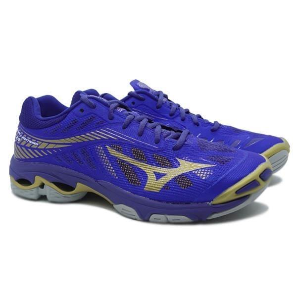 Sepatu voli Mizuno V1GA180051 WAVE LIGHTNING Z4 - BLUE 10249C GOLD 10121C SURF THE WEB