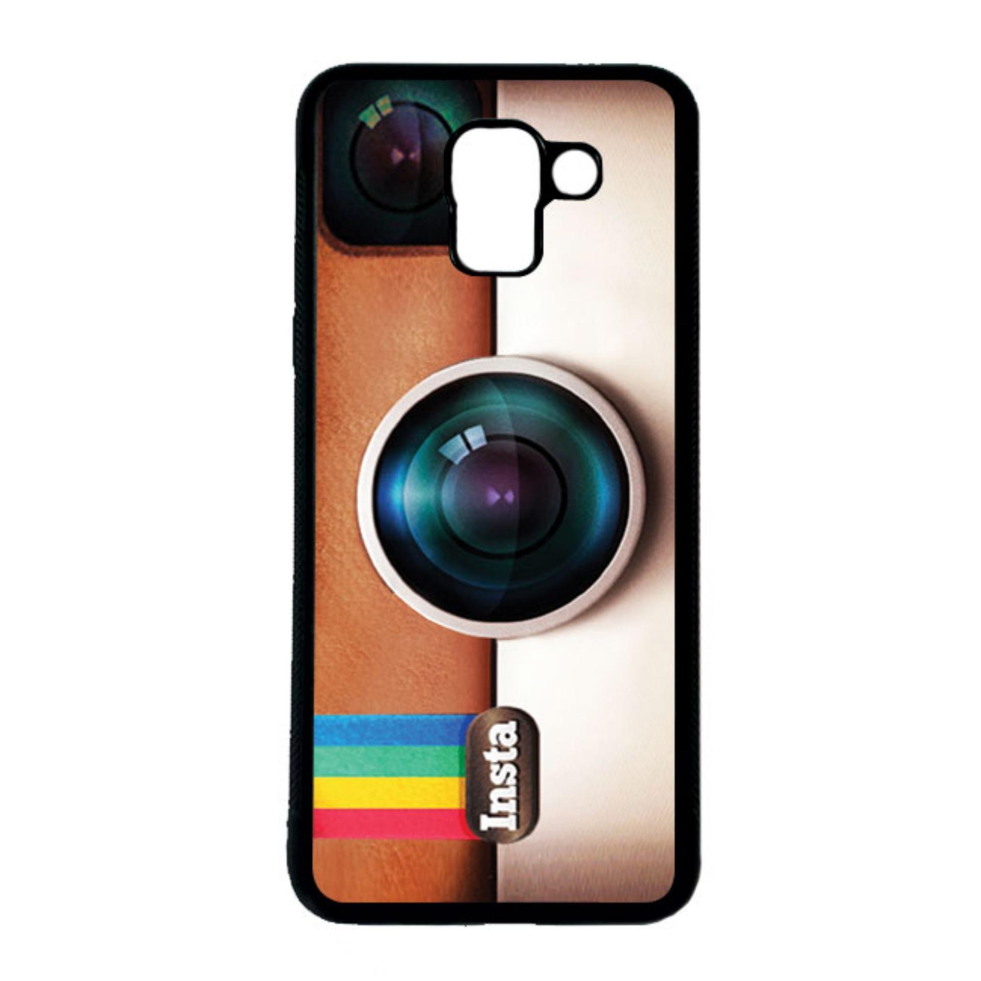 HEAVENCASE Casing Case Samsung Galaxy J6 Case Softcase Hitam Motif Unik Instagram