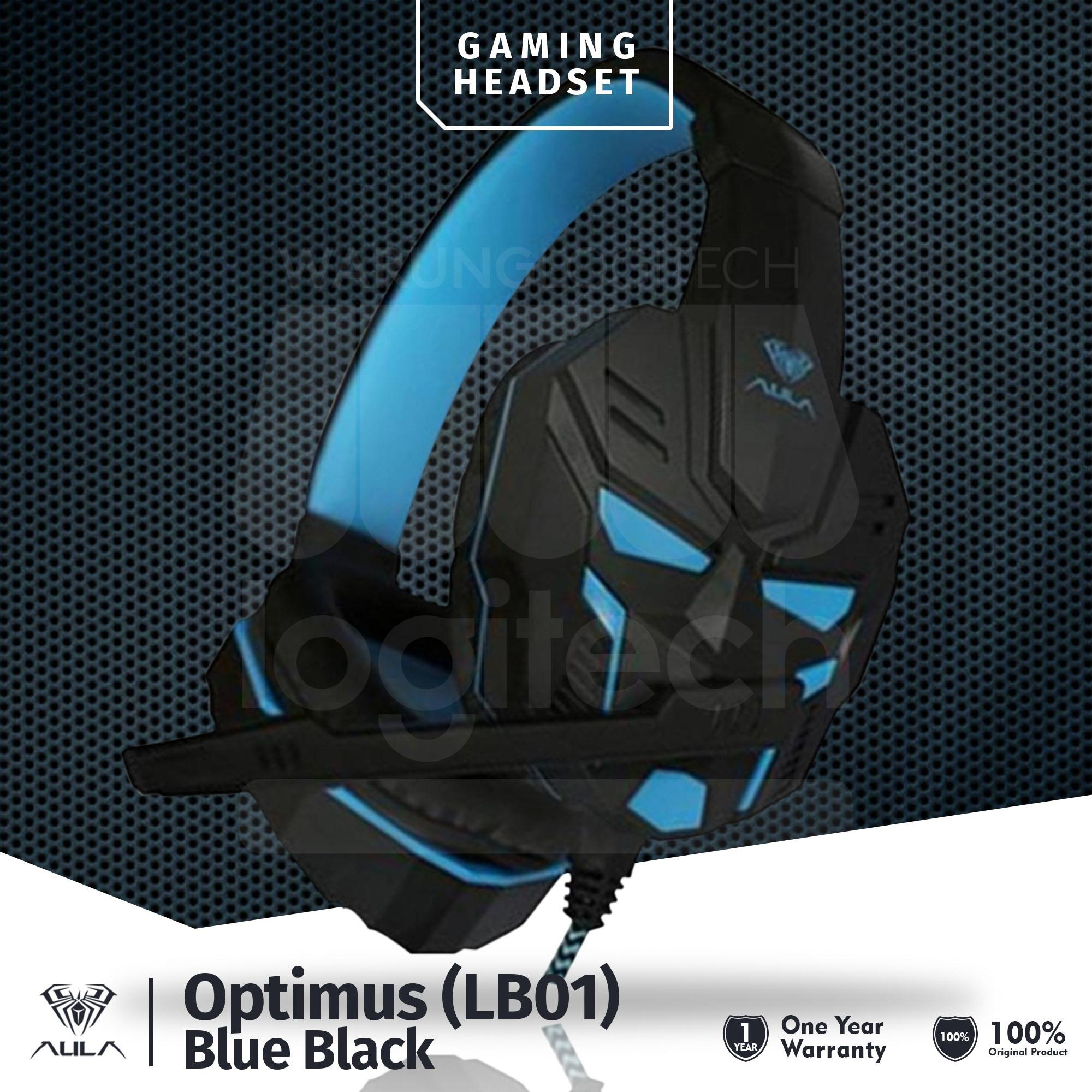 AULA LB01 Headset Gaming with Mic Hitam