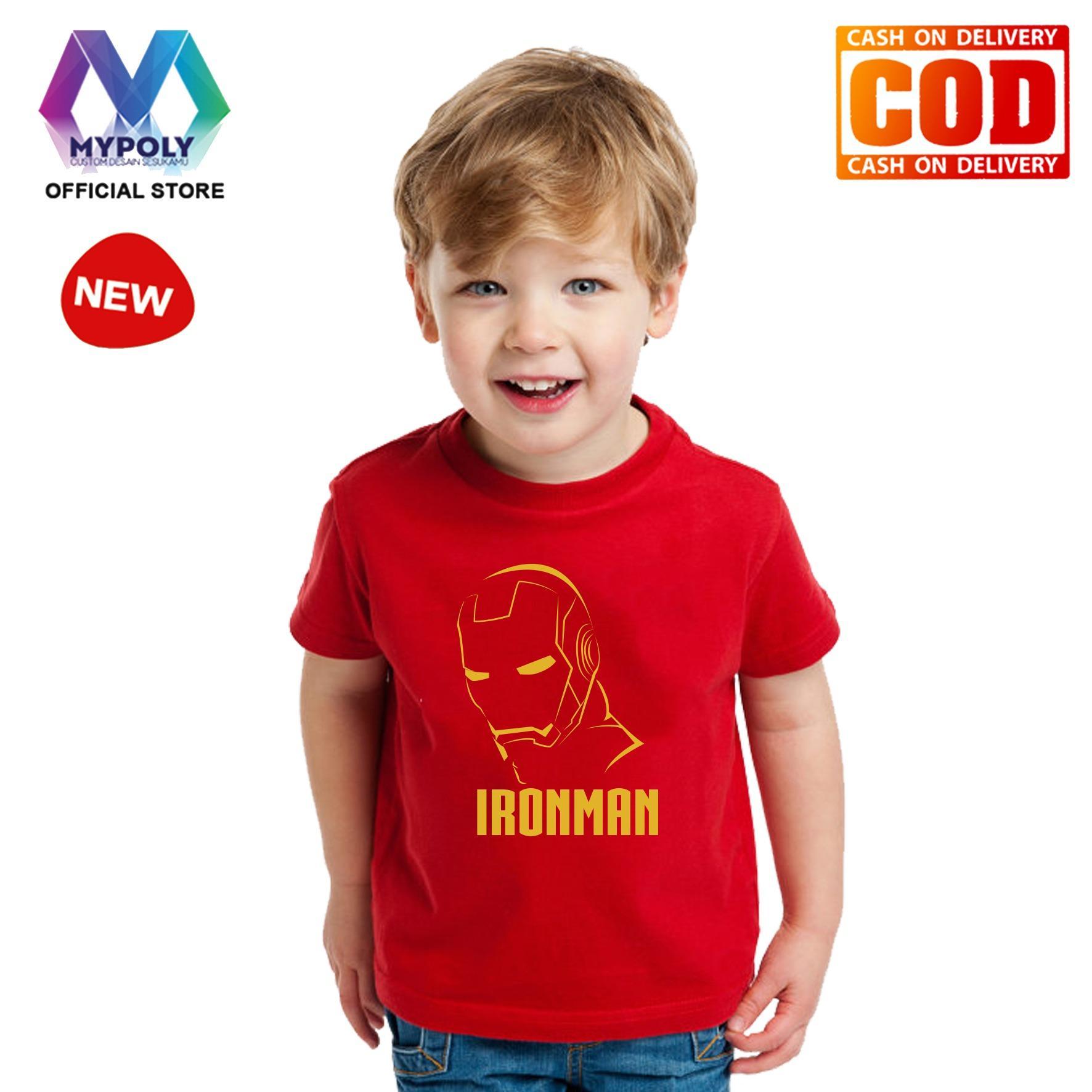 Kaos Premium Mypoly Anak Pria laki-laki AP / Baju Couple Family Keluarga / Tshirt distro / Fashion atasan / Kaos Anime / Kaos Animasi / Kaos Super Hero / Kaos Kartun / Kaos Cartoon / Kaos Lucu / Kaos Gambar Karakter / Kaos Anak Iron Art Line