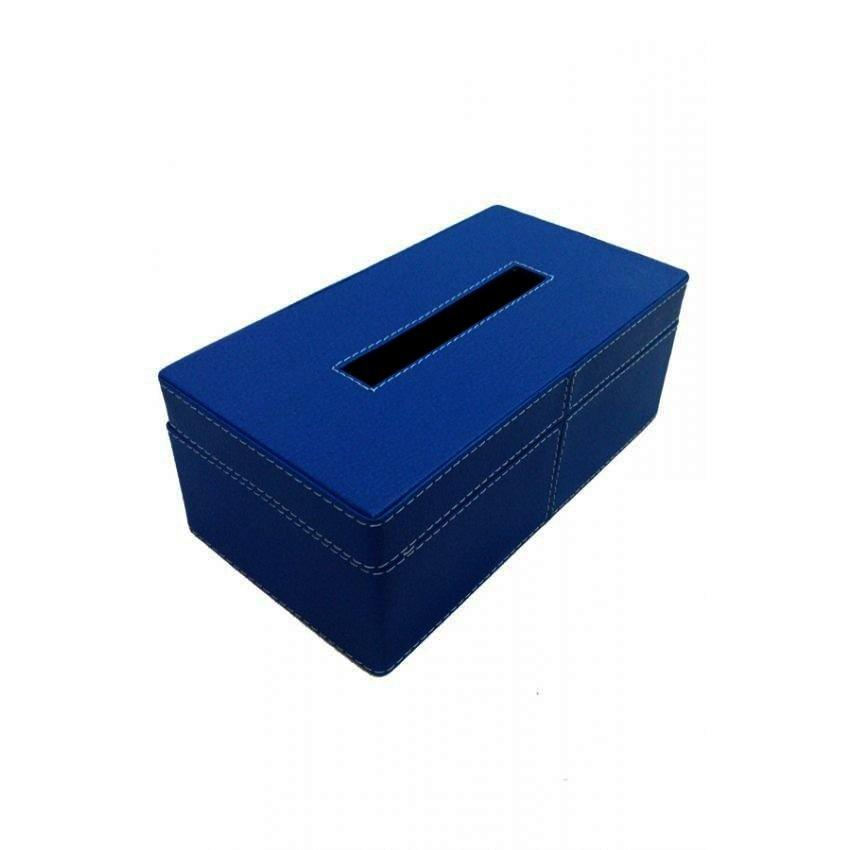 Kerajinan Jogja Kotak Box Tisu Vinyl - Biru