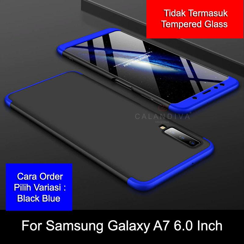 Calandiva Hard Case Samsung Galaxy A7 2018 (6.0 Inch) Casing Premium Front Back 360