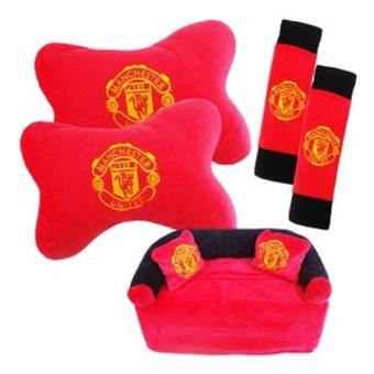 Beli sekarang Bantal Mobil 3in1 MU Manchester United Bantal boneka ba terbaik murah - Hanya Rp116.153
