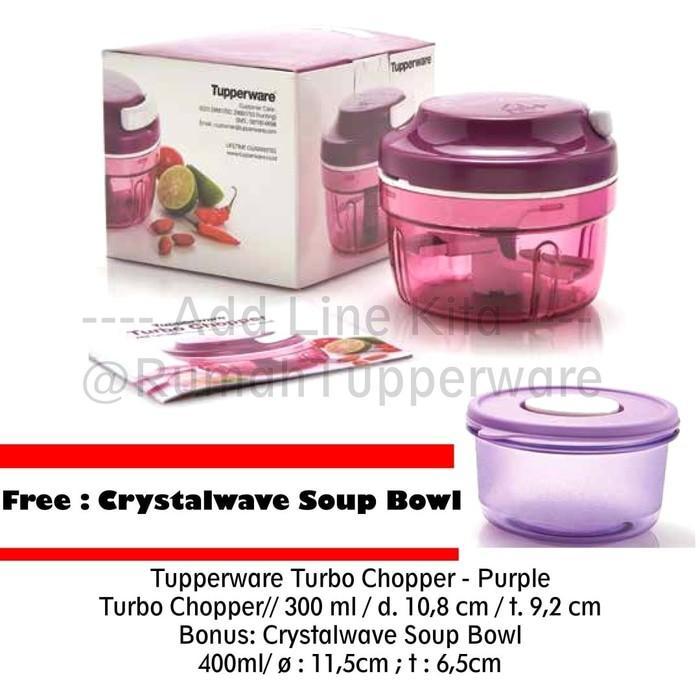 Tupperware Turbo Chopper Purple Free Crystalwave Soup Bowl - Q5jq0s
