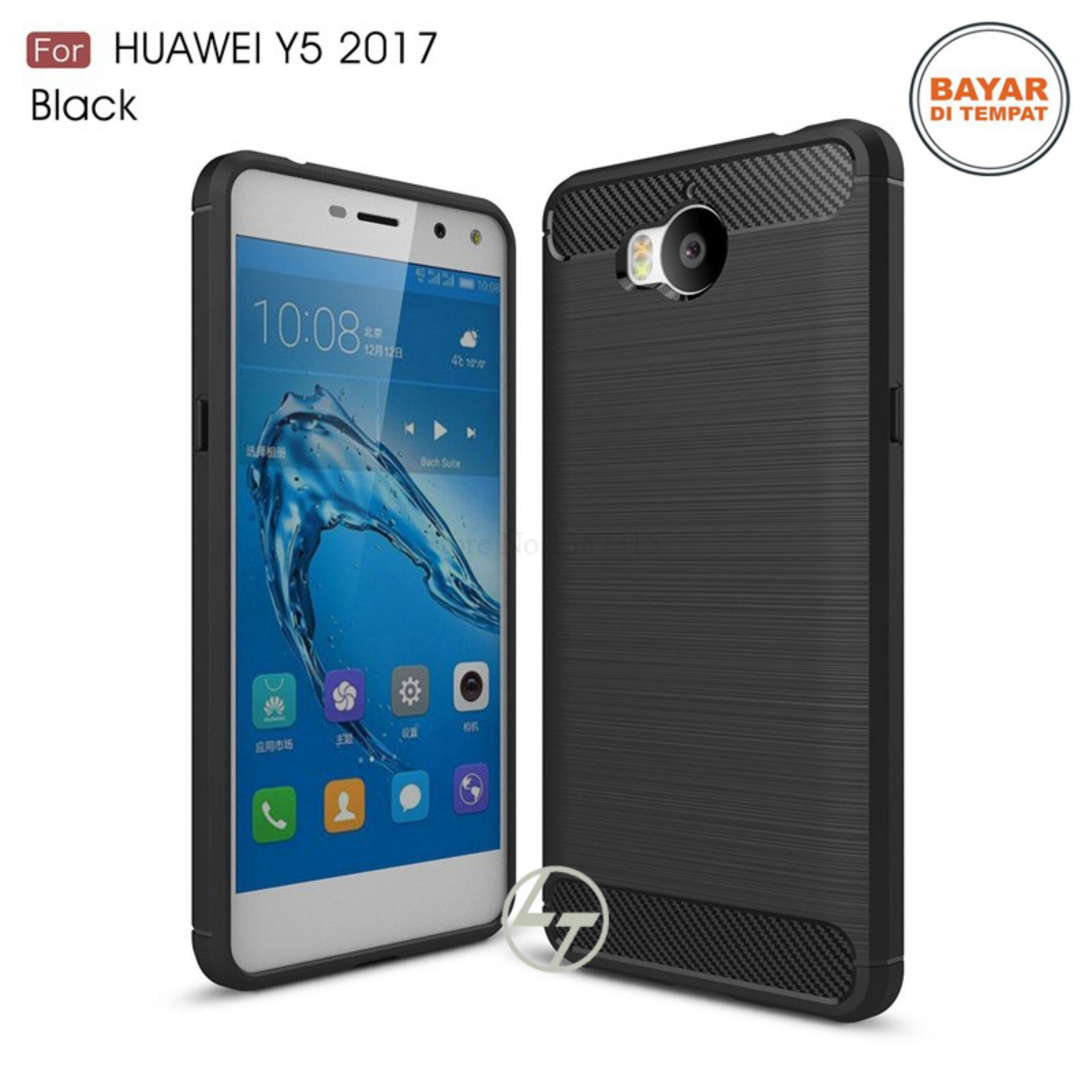Lapak Case Carbon Fiber Premium Quality Shockproof TPU for Huawei Y5 2017 / Y5II - Hitam
