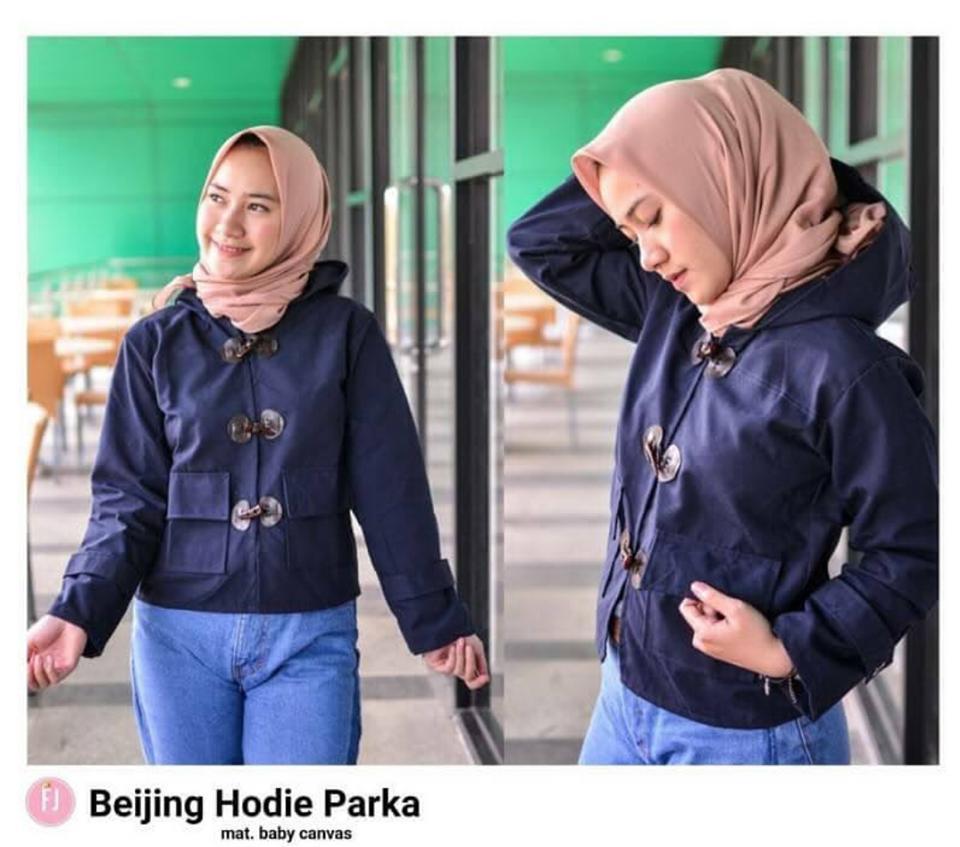 Collection Jaket Parka Kanvas Wanita Navy // Jaket Wanita Beijing Hoodie Parka Navy // Jaket Wanit