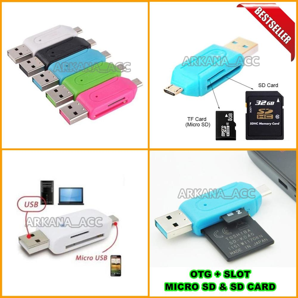 Universal OTG MICRO USB + CARD READER / OTG CARD READER Include Slot Micro Usb +