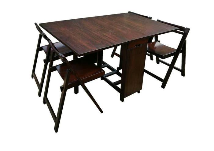 Promo    Meja makan meja lipat kayu solid Fabio Artista Home    Original