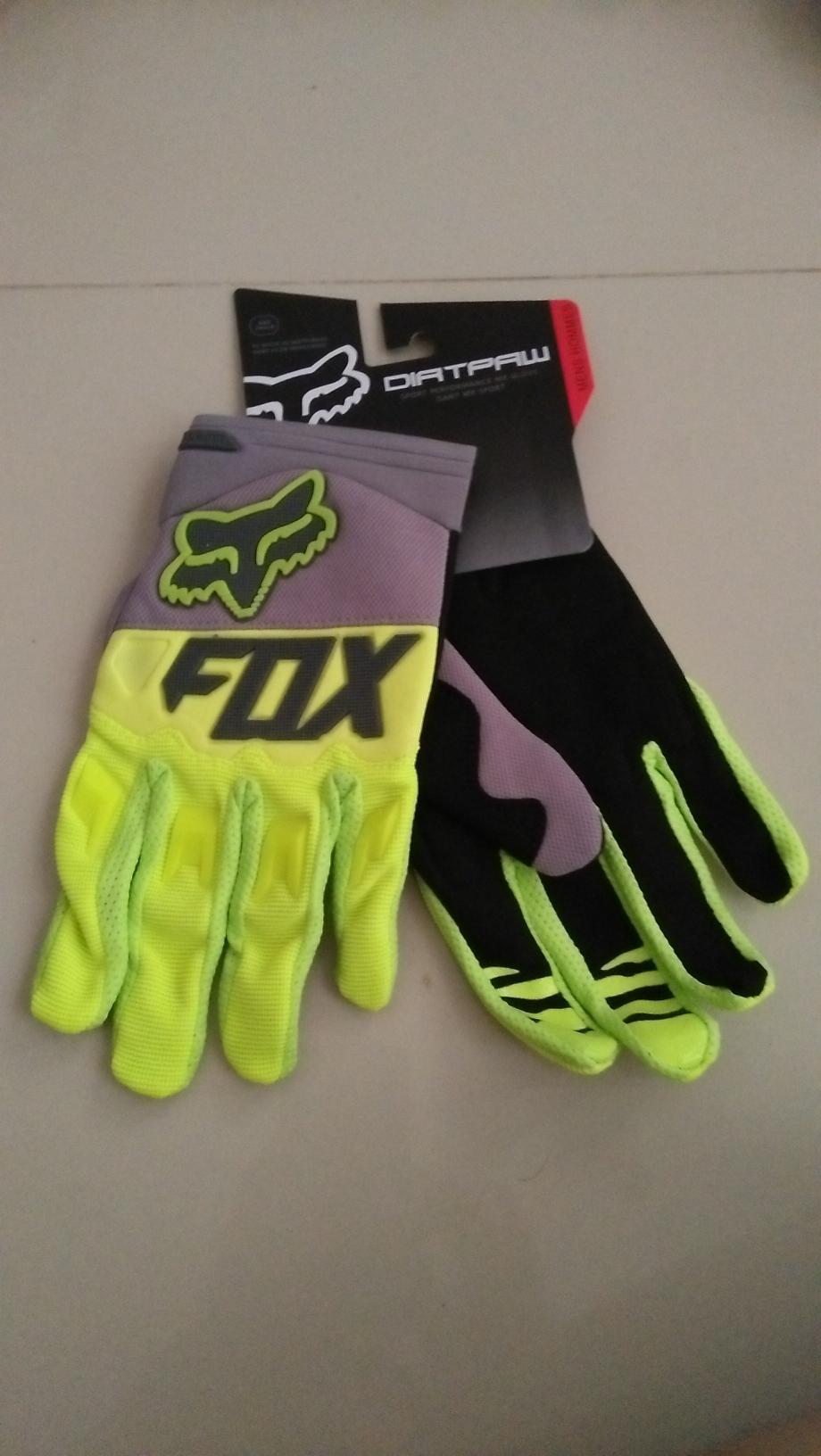 Hijau Fox Dirtpaw Sarung Tangan Sepeda Motor Touring Tour Bikers Bike Gloves Sports .