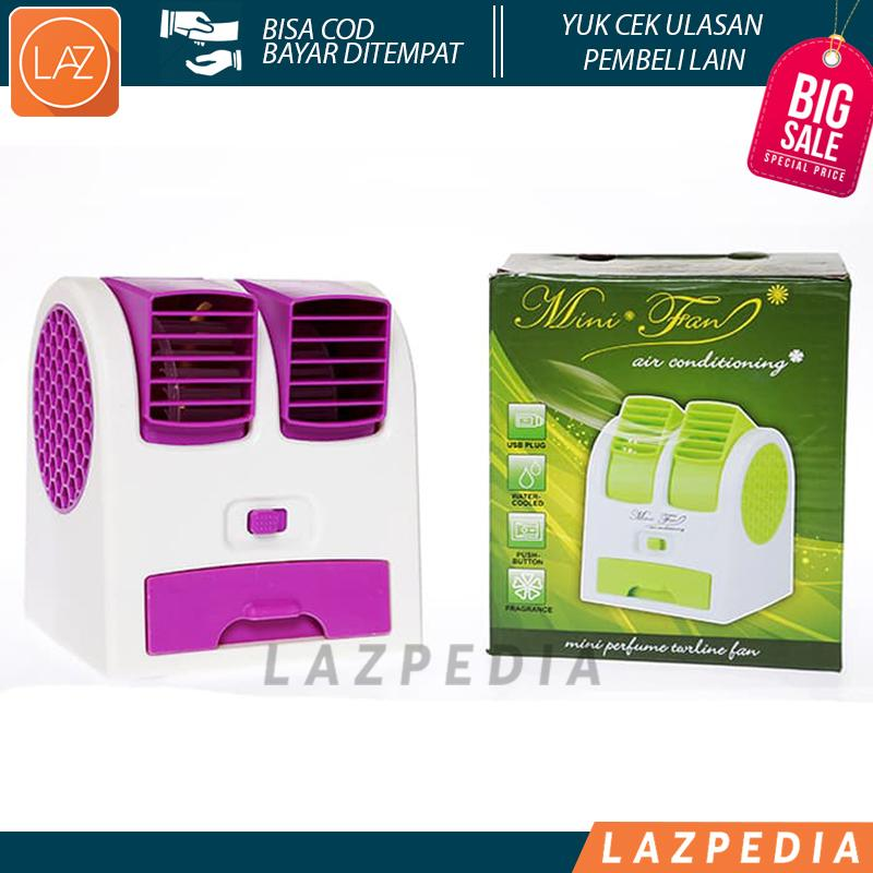 Laz COD - Ac Mini Double Ac Duduk New Generation With Double Fan (Mini Fan
