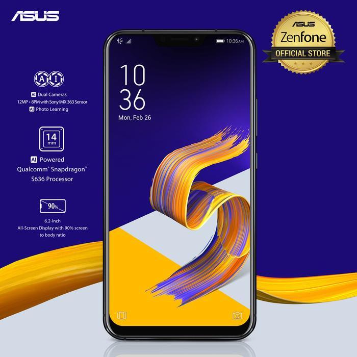 ASUS ZENFONE 5 ZE620KL 2018 RAM 4GB INTERNAL 64GB - GARANSI RESMI - Hitam
