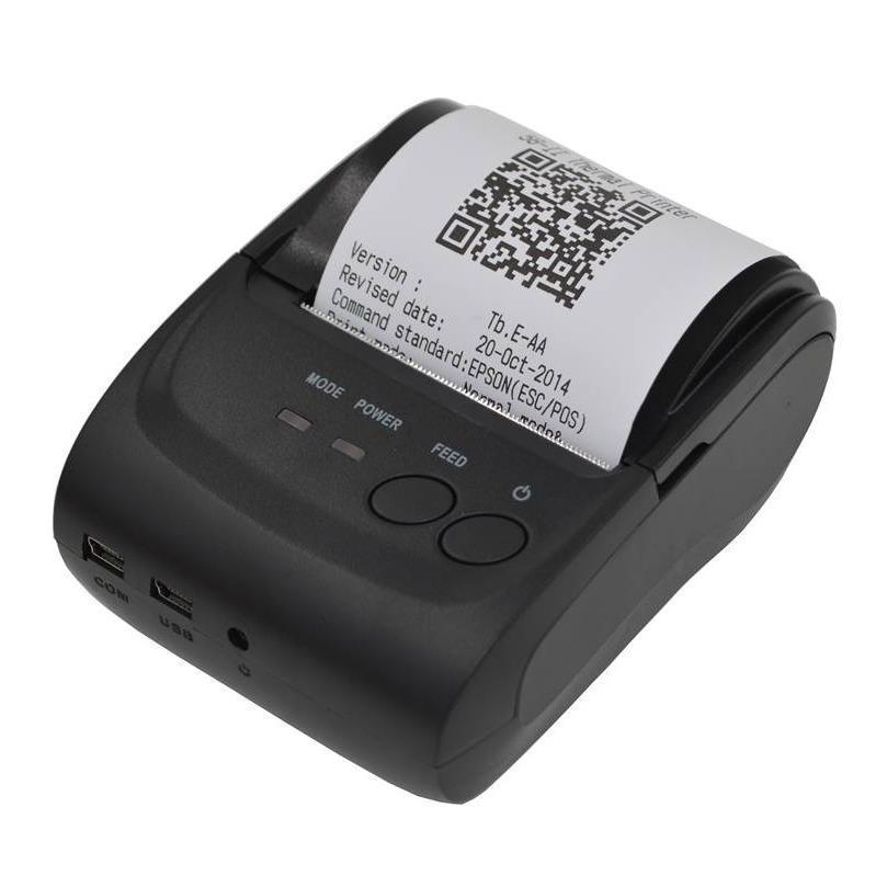 Zjiang Mini Portable Bluetooth Thermal Receipt Printer - ZJ-5802 -hitam baru