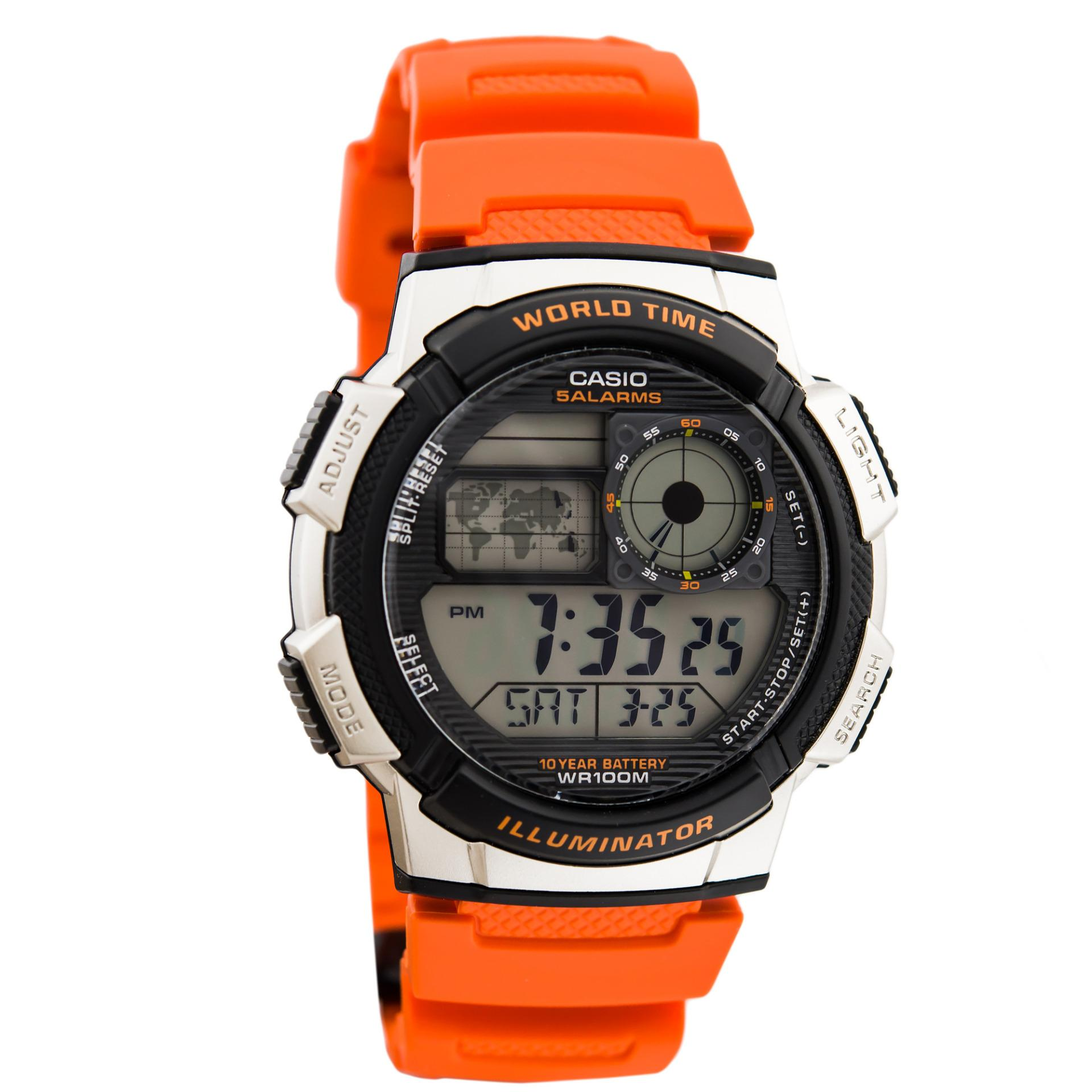 CASIO Illuminator AE-1000W - Jam Tangan Sporty Pria - Tali Karet - Digital Movement