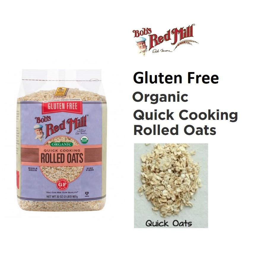 Bob's Red Mill Gluten Free Organic Quick Cooking Rolled Oat 907gr