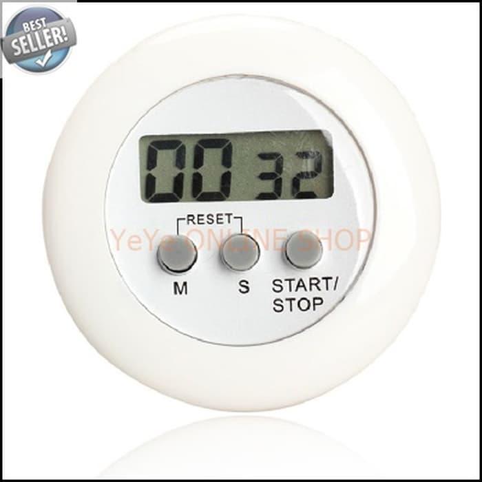 HARGA DISKON!!! Timer Masak Dapur 5 Color Digital Alarm - White G911 - FrHeP1