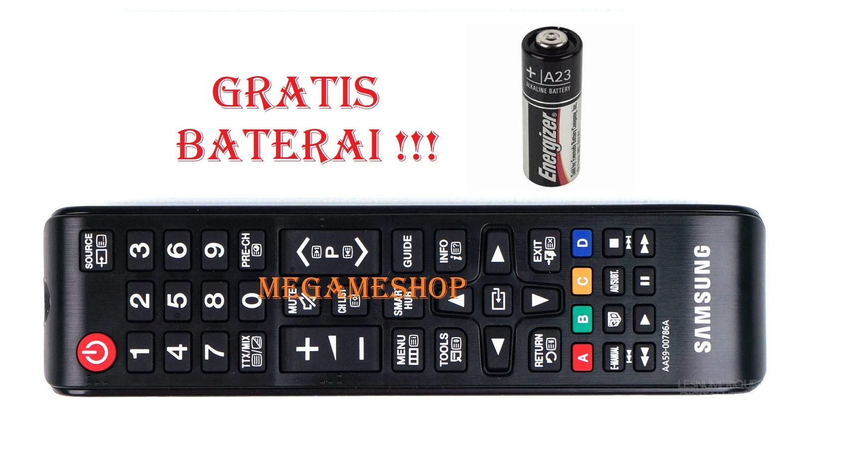 Samsung Remote TV LCD LED ORIGINAL bukan KW Plus Gratis Baterai_Megameshop