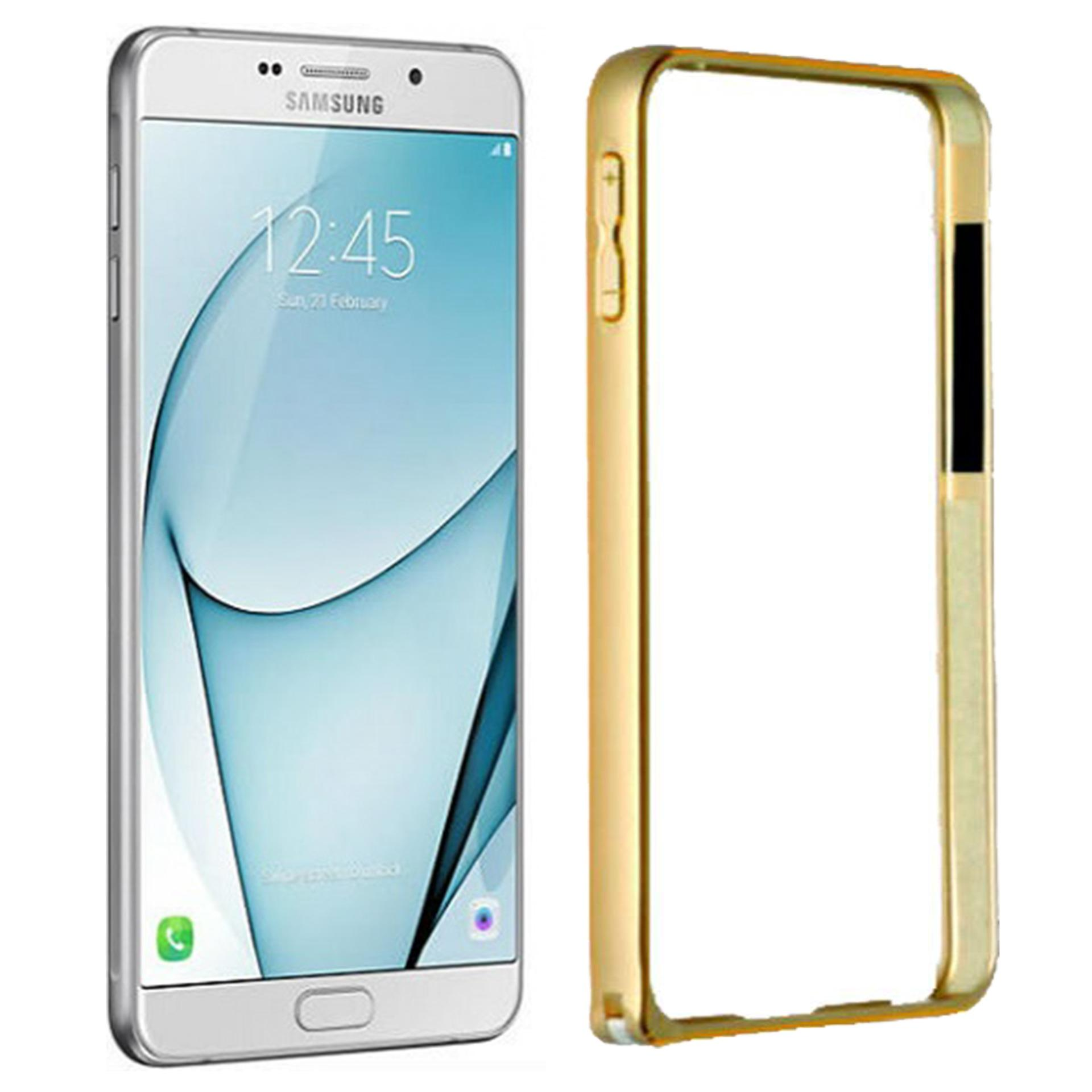 Aluminium Bumper Stainless Metal Bezel List for Samsung Galaxy A9 / Pro / 4G LTE Duos - Gold
